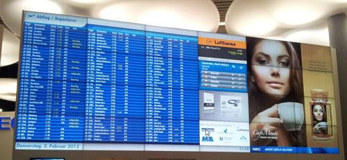 ویدئو وال در فرودگاهها و پایانه ها