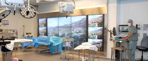 ویدئو وال در بیمارستان و مراکز درمانی